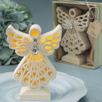 Glowing Ivory Colour Angel Statue With LED Light